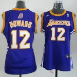 Maillot Femme de Howard Los Angeles Lakers #12 Pourpre