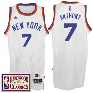 Maillot Retro 2016-17 Knicks Anthony 7 Blanc
