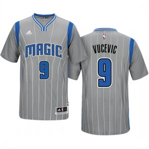Maillot Manga Cort Nikola Vucevic Magic 9 Gray