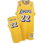 Maillot Retro Lakers Baylor 22 Jaune