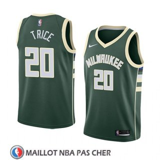 Maillot Milwaukee Bucks Travis Trice No 20 Icon 2018 Vert