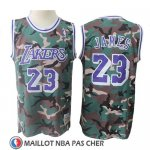Maillot Los Angeles Lakers Lebron James Camouflage Vert