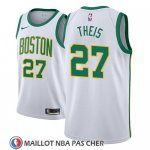 Maillot Boston Celtics Daniel Theis No 27 Ciudad 2018-19 Blanc