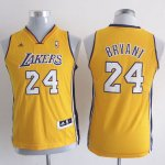 Maillot Enfant Jaune Bryant Los Angeles Lakers Revolution 30