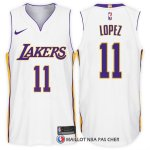 Maillot Authentique Los Angeles Lakers Lopez 2017-18 11 Blanc