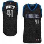 Maillot Crazy Light Leopard Mavericks Nowitzki 41 Noir