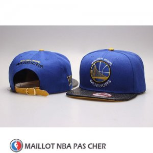 Casquette Golden State Warriors Snapback Bleu Noir
