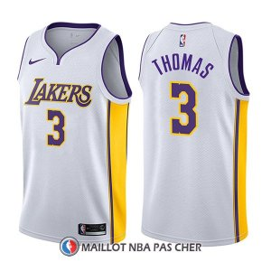 Maillot Los Angeles Lakers Isaiah Thomas Association 3 2017-18 Blanc