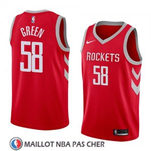 Maillot Houston Rockets Gerald Green No 58 Icon 2018 Rouge