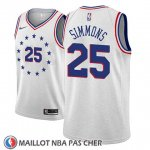 Maillot Philadelphia 76ers Ben Simmons No 25 Earned 2018-19 Gris