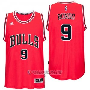 Maillot Bulls Rondo 9 Rouge
