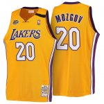 Maillot Retro 1999-00 Lakers Mozgov 20 Jaune