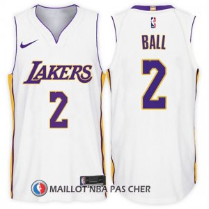 Maillot Los Angeles Lakers Lonzo Ball 2 2017-18 Blanc