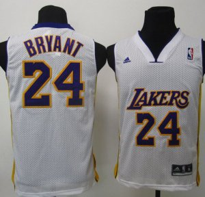 Maillot Enfant de Bryant Los Angeles Lakers #24 Blanc