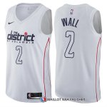 Maillot Washington Wizards John Wall Ville 2 Blanc