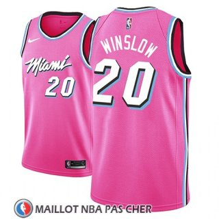 Maillot Miami Heat Justise Winslow Earned 2018-19 Rosa