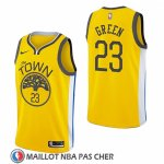 Maillot Golden State Warriors Draymond Green Vert Earned 2018-19 Jaune