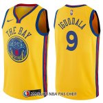 Maillot Golden State Warriors Andre Iguodala Chinese Heritage Ciudad 9 2017-18 Or