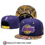Casquette Los Angeles Lakers 9FIFTY Snapback Jaune Volet
