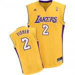 Maillot Los Angeles Lakers Fisher #2 Jaune