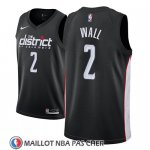 Maillot Washington Wizards John Wall No 2 Ciudad 2018-19 Noir