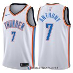 Maillot Authentique Oklahoma City Thunder Anthony 2017-18 7 Blanc