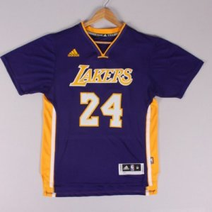 Maillot Manche Courte Lakers Bryant 24 Pourpre