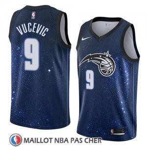 Maillot Orlando Magic Nikola Vucevic No 9 Ciudad 2018 Bleu