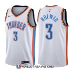 Maillot Oklahoma City Thunder Corey Brewer Association 3 2017-18 Blanc