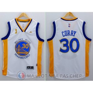 Maillot Blanc Curry Golden State Warriors championnat Revolution 30