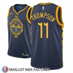 Maillot Golden State Warriors Klay Thompson No 11 2018-19 Bleu