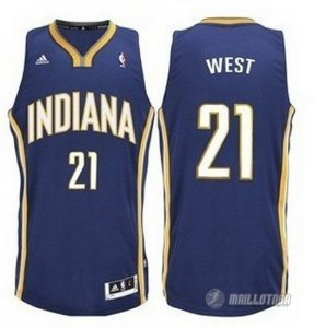 Maillot Bleu West Indiana Pacers Revolution 30