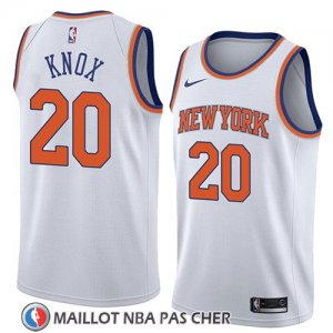 Maillot New York Knicks Kevin Knox No 20 Association 2018 Blanc