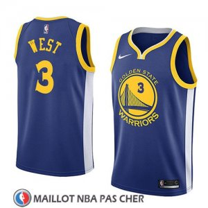 Maillot Golden State Warriors David West 3 Icon 2018 Bleu
