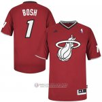 Maillot Bosh Miami Heat #1 Rouge