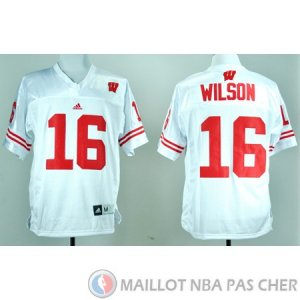 Maillot NCAA Russell Wilson Blanc