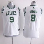 Maillot Enfant de Blanc Rondo Boston Celtics Revolution 30