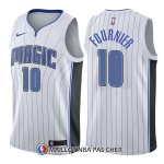 Maillot Orlando Magic Evan Fournier Association 10 2017-18 Blanc