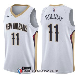 Maillot New Orleans Pelicans Jrue Holiday Association 11 2017-18 Blanc