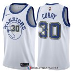 Maillot Authentique Golden State Warriors Curry 2017-18 30 Blanc