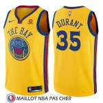 Maillot Enfant Golden State Warriors Kevin Durant No 35 Ciudad Jaune