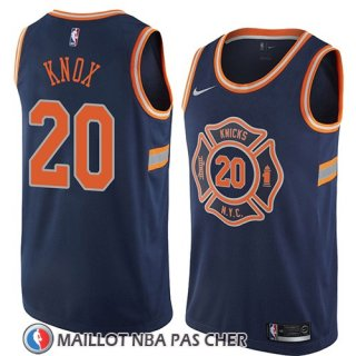 Maillot New York Knicks Kevin Knox No 20 Ciudad 2018 Bleu