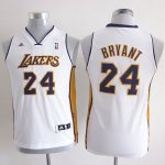Maillot Enfant de Blanc Bryant Los Angeles Lakers Revolution 30