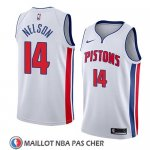 Maillot Detroit Pistons Jameer Nelson No 14 Association 2018 Blanc