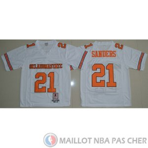Maillot NCAA Barry Sanders Blanc