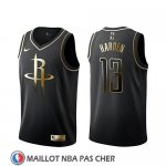 Maillot Golden Edition Houston Rockets James Harden Noir
