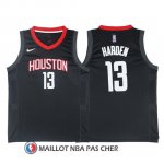 Maillot Authentique Houston Rockets Harden 2017-18 13 Noir