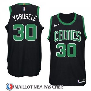 Maillot Boston Celtics Guerschon Yabusele No 30 Statement 2018 Noir