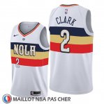 Maillot New Orleans Pelicans Ian Clark Earned Edition Blanc