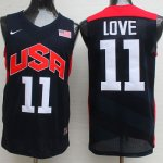 Maillot de Love USA NBA 2012 Noir